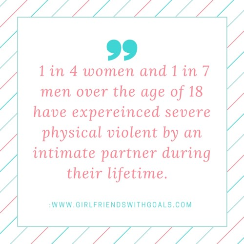 1 in 4 women and 1 in 7 men over the age of 18 have expereinced severe physical violent by an intimate partner during their lifetime.