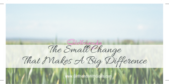 The Small Change That Makes A BIG Difference. #Healthway